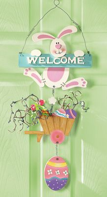 Welcome Easter Bunny Hanging Wall and Door Decor