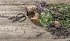 Lavender oil with fresh flowers by LiliGraphie on Creative Market