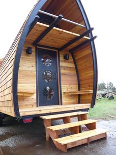 Fortune Cookie Tiny House on Wheels with a Balcony by Zyl Vardos   Tiny Homes