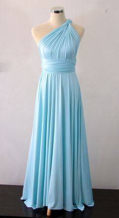 Free Bandeau! Full length Convertible Dress in Tiffany Blue Infinity Dress Multiway Dress Wrap dress Light Blue Robin's egg on Etsy, £26.29