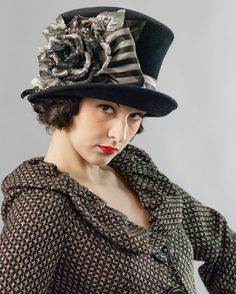 Louise Green hat – top hat 495