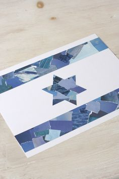 Make an Israeli Flag from Recycled Paper | Chai & Home