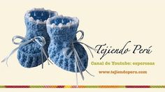 Zapatitos para bebé en crochet (Parte 2) - YouTube
