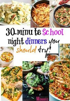 30-minute school night dinner you should try- School night dinners doesn't have to be stressful, just simply make of these delicious and super easy recipes done in 30-minutes! Less time in the kitchen and more time bonding with your family!