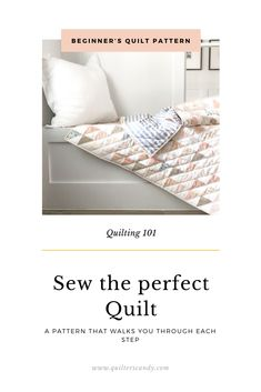Learn to quilt with video tutorials and a pattern written JUST for beginning quilters. Beginner Quilt Patterns, Quilting For Beginners, Quilting 101, Quilting Projects, Beginning Quilting, Call My Friend, Half Square Triangle Quilts, How To Finish A Quilt, Scrappy Quilts