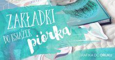 My Pink Plum!: Zakładki do książek piórka – grafika do druku