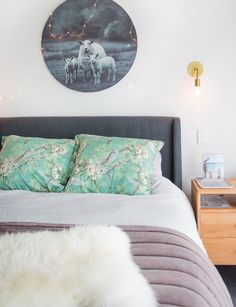 Bedroom makeover: from dark and dated to light and lovely - Homes To Love Veneer Door, Small Wardrobe, Wall Paint Colors, Wall Treatments, Mid-century Modern, Master Bedroom, Interior Design, Night Night, Sleep Tight