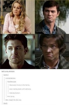 46 Memes for Anyone Who Loves Supernatural - Part 3 they forgot Adam! Supernatural Imagines, Tumblr Supernatural, Funny Supernatural Memes, Spn Memes, Supernatural Bloopers, Supernatural Tattoo, Supernatural Wallpaper, Supernatural Destiel, Supernatural Season 4