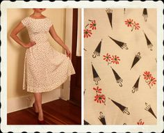 SPRING Showers Bring Flowers 1950's New Look by butchwaxvintage, $125.00