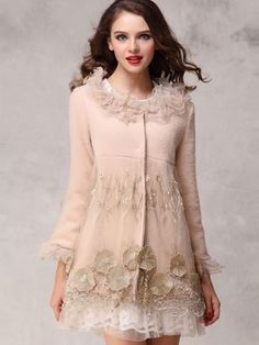 Sweet Style Selected Exquisite Embroidery Montage Woolen Lace Coats https://www.facebook.com/JollychicCoupons
