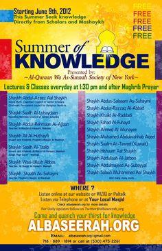 ALBaseerah.org ~~ Studyislaam.org ~~ Seekknowledge.org -- Live Lectures of Scholars - Online Islamic Courses - Online Intensive Courses - Courses in Islamic Sciences - Free Islamic Courses - Al-Quraan As-Sunnah Al-Islaam Islam Islaam ( Al-Quraan Wa As Sunnah Society of New York )