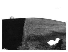 from the [ Landscapes ] collectionby Mario Giacomelli Mario, Surrealism, Artist, Pictures, Painting, Landscapes, Inspirational, Random, Blanco Y Negro