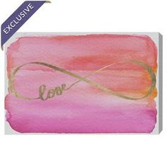Love Infinity Gold Canvas Print, Oliver Gal