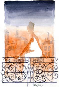 Evening in Paris Artist Lovisa Oliv www.lovisaoliv.com