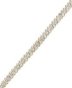 Diamond S-Link Bracelet in 10k Gold (1/2 ct. t.w.)