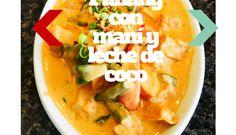 Curry Panang con maní y leche de coco