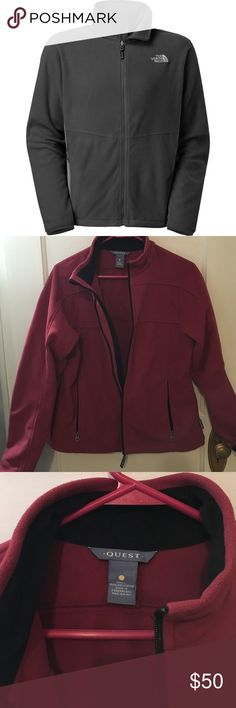 Windstopper fleece jacket Barely used mauve fleece windstopper jacket by Quest. Similar to 1st jacket pictured (first pic for idea). Size M.  Listed under North Face for exposure North Face Jackets & Coats