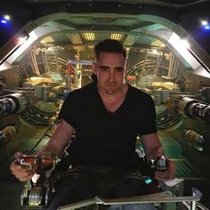 Lee Pace behind the Scenes of Guardians of the Galaxy.