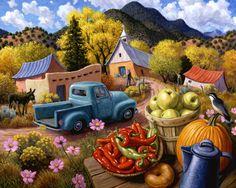 Stephen Morath Digital Prints - Village Autumn