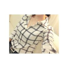 Buy Rocho Plaid Chiffon Shirt at YesStyle.com! Quality products at remarkable prices. FREE WORLDWIDE SHIPPING on orders over US$ 35.