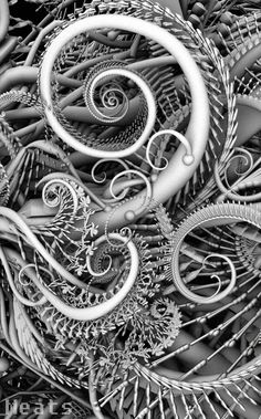 Fractal Swirls in gray