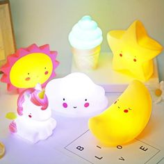 Get awesome stationery and gifts by visiting link in bio or go to www.otrioshop.com 💖 Free shipping to all countries! ✉️ For credit/copyright issue, please email us 🌈 #stationery #squishy #nightlight #lamp #kawaiistuff #kawaiilife #kawaiilifestyle Cute Night Lights, Led Night Light, Light Led, Lampe 3d, Pot A Crayon, Cute Desk, Star Cloud, Home Decor Online, Color Changing Led