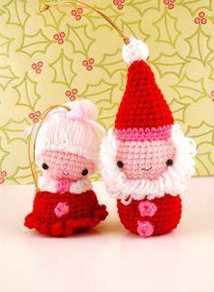 Mr. and Mrs. Santa Claus #amigurumi