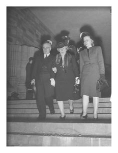 Harry S. Truman with His Wife and Daughter, Attending Justice Harlan Fiske Stone's Funeral ❤❁❤❁❤❁❤❁❤❁❤ http://en.wikipedia.org/wiki/Margaret_Truman http://en.wikipedia.org/wiki/Harry_S._Truman   http://en.wikipedia.org/wiki/Bess_Truman  https://www.trumanlibrary.org/