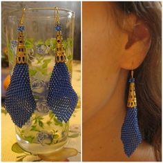 Мои любимые синие сережки!!!