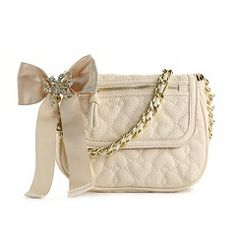 Betsey Johnson Quilted Love Cross Body Bag