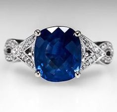 Sapphire and white gold