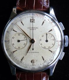 So vintage. Dirty. Worn. This watch has seen hell and talk about its time there with pride.