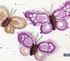 Die 77 Besten Bilder Von Schmetterlinge Flores De Ganchillo