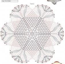 Image result for graficos de tapetes em croche com formato de corações