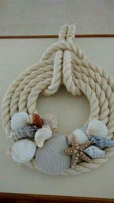 Could do smaller twine with seashells attached for Christmas ornaments
