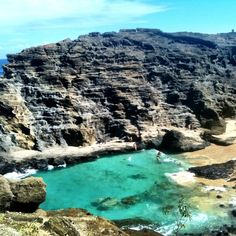 Cockroach Cove, Honolulu, Oahu, Hawaii — by Emma-Lisa Pettersson. This is were they shot some scenes for latest Pirates movie! In the movie it's known as Witecap Bay were they catch...