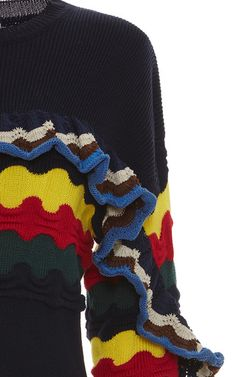 0b87e6143d19 Multicolor Ruffle Sweater by MARNI for Preorder on Moda Operandi