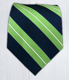 The tie I picked for my Groom. It wasn't too expensive and incorporated the navy blue and apple green that is in my wedding color scheme.