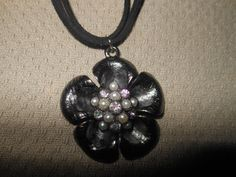 Pewter Choker On Black Suede Cord by AngelPaws6 on Etsy