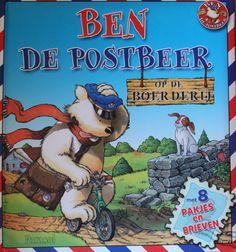 Ben is een postbeer die pakjes en brieven rondbrengt. Voor alle dieren van de boerderij heeft hij een brief. Weet jij voor wie de brieven zijn?
