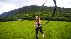 Kualoa Ranch Zipline On Oahu Hawaii Journey Era Ziplining Oahu Zipline Oahu