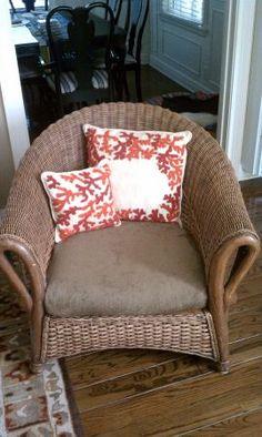Wicker armchair - $60