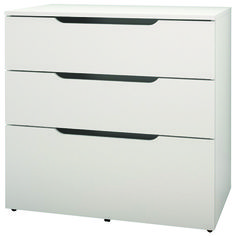 Arobas 3 Drawer File Cabinet   White   Online Only