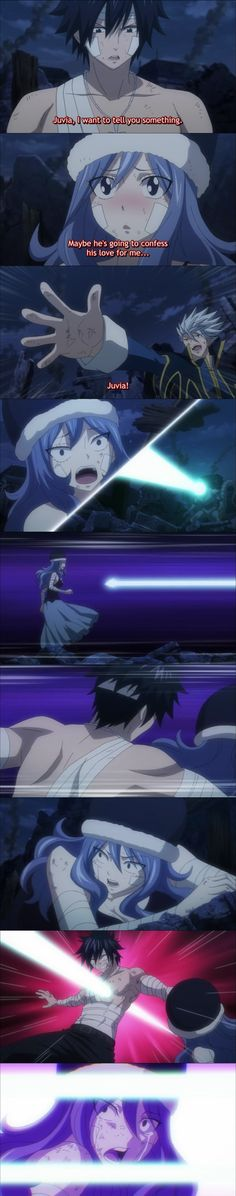 Personally I think Gray loves Juvia but he does not want to admit it to himself. This is an example of his hidden love