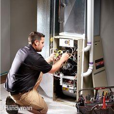 Furnace Repair: The Family Handyman High Efficiency Gas Furnace, Energy Efficiency, Furnace Maintenance, Lawn Maintenance, Home Furnace, Home Fix, Appliance Repair, Diy Home Repair, Heating And Air Conditioning