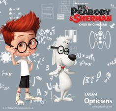 As the time travelling #WABAC navigating father-son team of DreamWorks' Mr. Peabody & Sherman know, having regular eye check-ups are very important! Make sure you keep your eyes healthy by getting them checked at your local Tesco Opticians.   Book a sight test* for your child by calling 0845 601 3479. *Terms & conditions apply. Subject to availability.