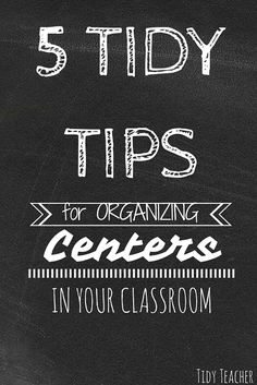 The Tidy Teacher has five tidy tips for organizing centers in your elementary classroom. One key suggestion? Assign center leaders. Check out the full list.
