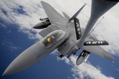 F-15E Strike Eagle - CNET News via @CNET - Here's the view from the other angle, as a KC-135 boom operator sizes up the approach of an F-35A Lightning II in May of this year.