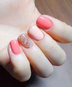Outstanding Pink Shade Glitter Nail Art Designs