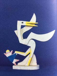 Stork & baby - Alexander Girard